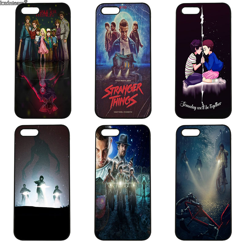 Stranger Things TV Mobile Phone Cases Hard PC Plastic Cover for iphone 8 7 6 6S Plus X 5S 5C 5 SE 4 4S iPod Touch 4 5 6 Shell