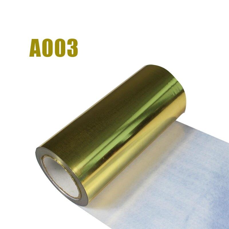 Livraison gratuite 1 rouleau 25cm x 25m hologramme transfert de chaleur vinyle métallisé or fer sur Film HTV T-shirt