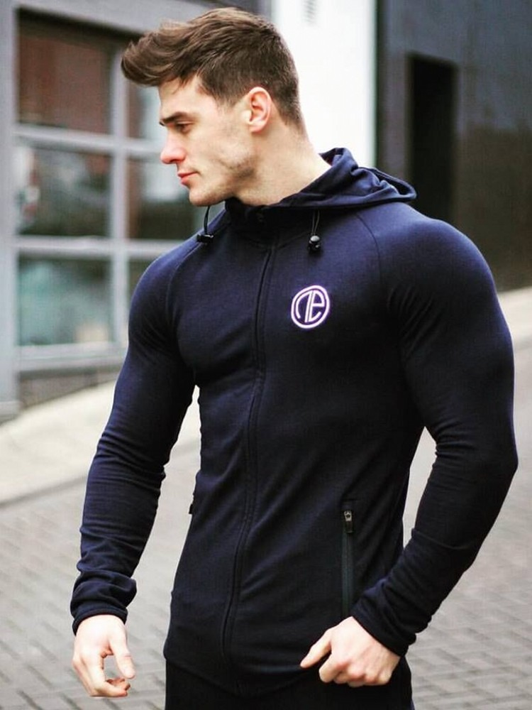 Men/'s Beast Lifting Mask Hoodie Workout Fitness Bodybuilding Gym Sweater Jacket