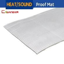 Cawanerl 1Pcs Aluminum Foil Car Body Sound Deadener Heat Insulation Deadening Mat Soundproof Insulation Cotton Pad 10cm x 100cm