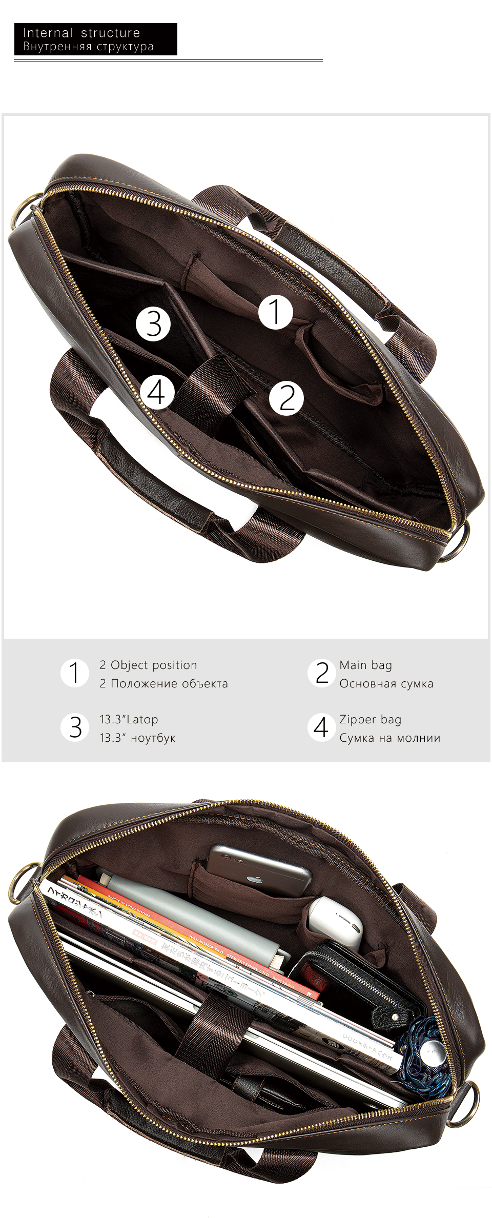 HTB1H JWVZfpK1RjSZFOq6y6nFXaw WESTAL Men's Briefcase Men's Bag Genuine Leather Laptop Bag Leather Computer/Office Bags for Men Document Briefcases Totes Bags