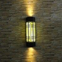 Luz de Parede tradicional Porta de Entrada do Jardim Do Pátio Varanda Luzes Do Corredor Retro arandela Lâmpada de Parede Ao Ar Livre Luz À Prova D' Água iluminaçao parede varanda luminaria exterior parede