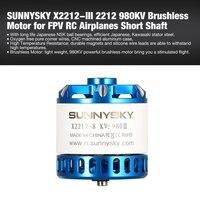 SUNNYSKY X2212 III 2212 980KV/1250KV/1400KV 3 4S Brushless Motor for FPV RC Racing Drone Airplanes Fixed Wing Plane Short Shaft