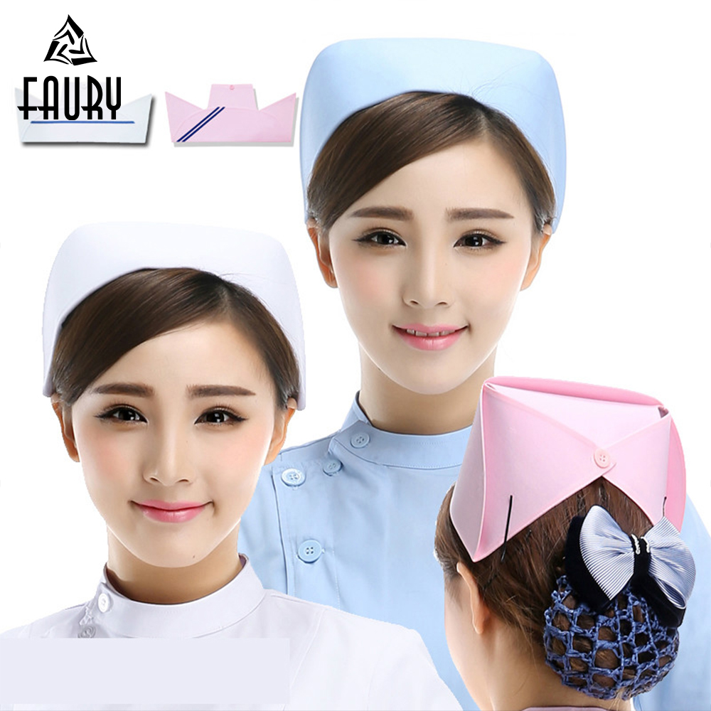 High Quality Nurse Cap Medical Cap Doctor Hat Hospital Professional Detist Work Caps For Women Female Headwear Wholesale