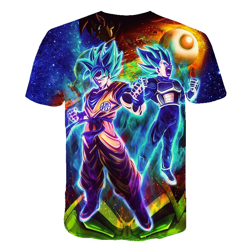 BZPOVB 2019 New Dragon Ball Z   T     Shirts   Men Super Saiyan Ultra Instinct Kids Goku Vegeta Printed Cartoon   T  -  Shirt   Top Tees