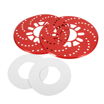 1 Set Auto Aluminium Disc Brake Rotor Trim Decorative Covers Retrofit 26cm Red Car Disc Brake Rotor Covers Car Accessories