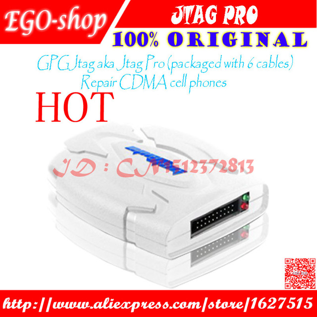 Free shipping 100 original GPGJtag aka Jtag Pro (packaged with 6 cables) Repair CDMA cell phones
