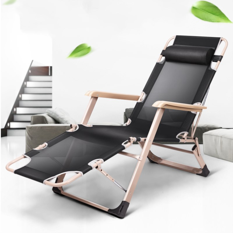 Foldable Mesh Beach Chair Folding Bed/Cot Outdoor Chaise Lounge Metal Frame Portable Outdoor Furniture for Noon Break Camping bluerise chaise lounge folding beach chair outdoor furniture three positions sun lounger recline or lay flat tanning massage