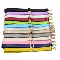 4 Metal Colors DIY Adjustable Bag Strap Replacement Colorful PU Leather Shoulder Straps For Handbags Bags