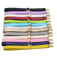 4 Metal Colors DIY Adjustable Bag Strap Replacement Colorful PU Leather Shoulder Straps For Handbags Bags