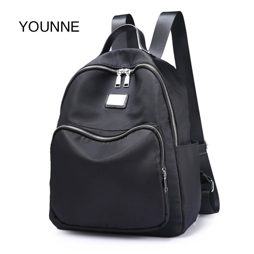 YOUNNE Women Backpacks Black Oxford Cloth Backpacks for Girls Teenagers Fashion School School Bags Travel Bags Satchels 2018 women s mint green oxford backpacks ladies travel bags female casual backpacks new school bags for students top handle bags e149