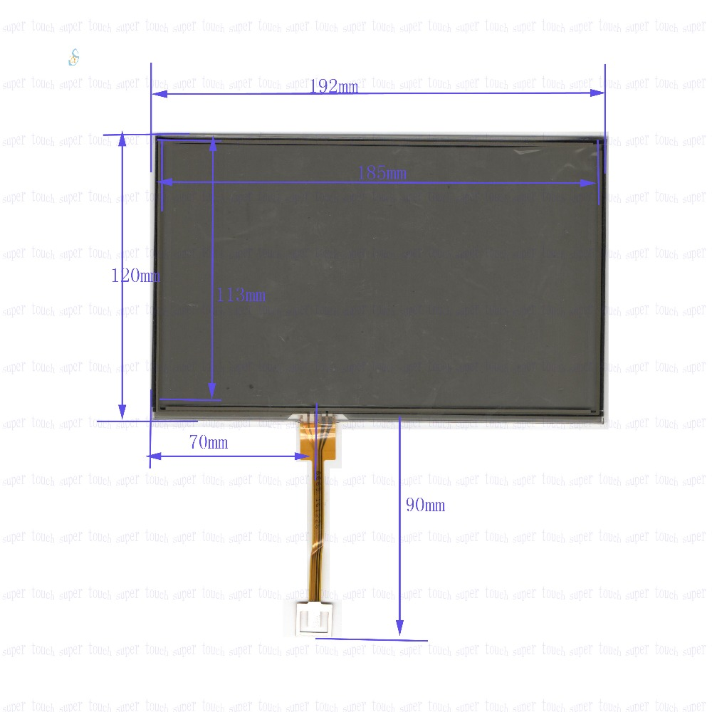 ZhiYuSun  192mm*120mm 6665 NEW  9 inch Touch Screen 4 wire resistive USB touch panel overlay kit   192*120 this is compatible 98 inch monitor ir touch screen 2 points infrared touch screen panel ir touch screen frame overlay with usb