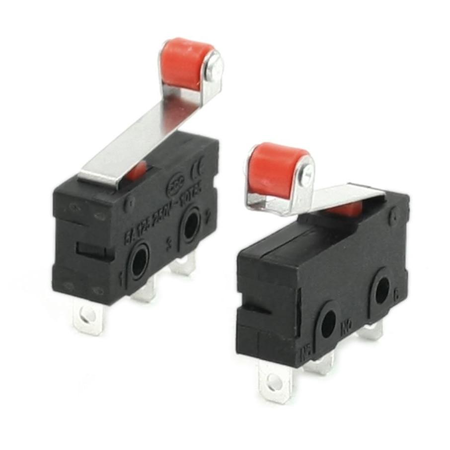 THGS 10 Pcs Mini Micro Limit Switch Roller Lever Arm SPDT Snap Action LOT 10pcs v 155 1c25 momentary limit micro switch spdt snap action switch