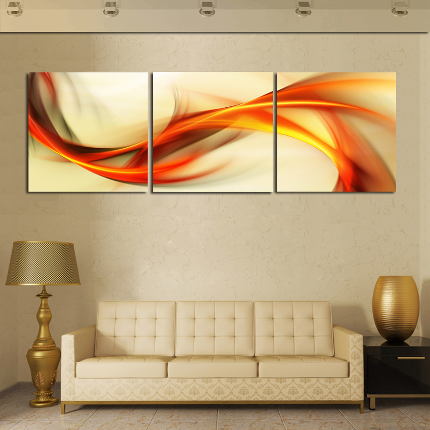 3 Piece Wall Art Abstract Painting Home Decor Modern Picture Set on ...