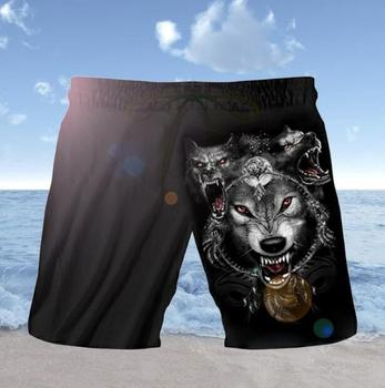 2019 Summer Funny Casual Shorts 3D Digital Print Skull Black Short Men's Black Hip-Hop Men's Shorts Fashion Quick Dry Beach  1