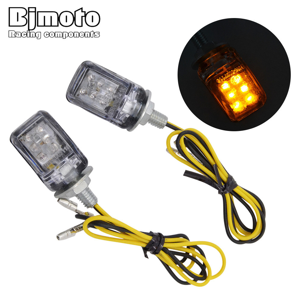 цена на BJMOTO Pair Universal Auto Car Motorcycle License Plate lamp 12V Screw Bolt LED Tail Number Light