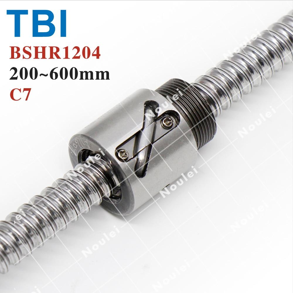 TBI 400mm 1204 Ball Screw, 12mm miniature Ballscrew with C7 Without Flange BSH1204 Nut горелка tbi sb 360 blackesg 3 м