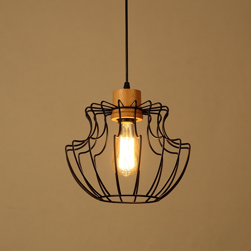 Vintage Iron Pendant Light Industrial Loft Retro Droplight Bedroom Restaurant Dinning Room American Style Hanging Lamp WPL031 american country retro loft style industrial pendant lamp fixture 2 lights dinning room vintage hanging light lampe lamparas