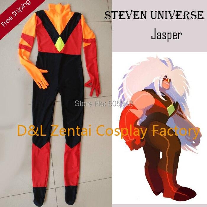 Doprava zdarma DHL Steven Universe Jasper Kostým Lycra Spandex Kostýmy Superhero Cosplay Kostým MCE1300