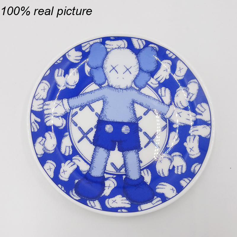 New 4Pcs Of One Set KAWS Holiday Brain Tableware Ceramic Plate