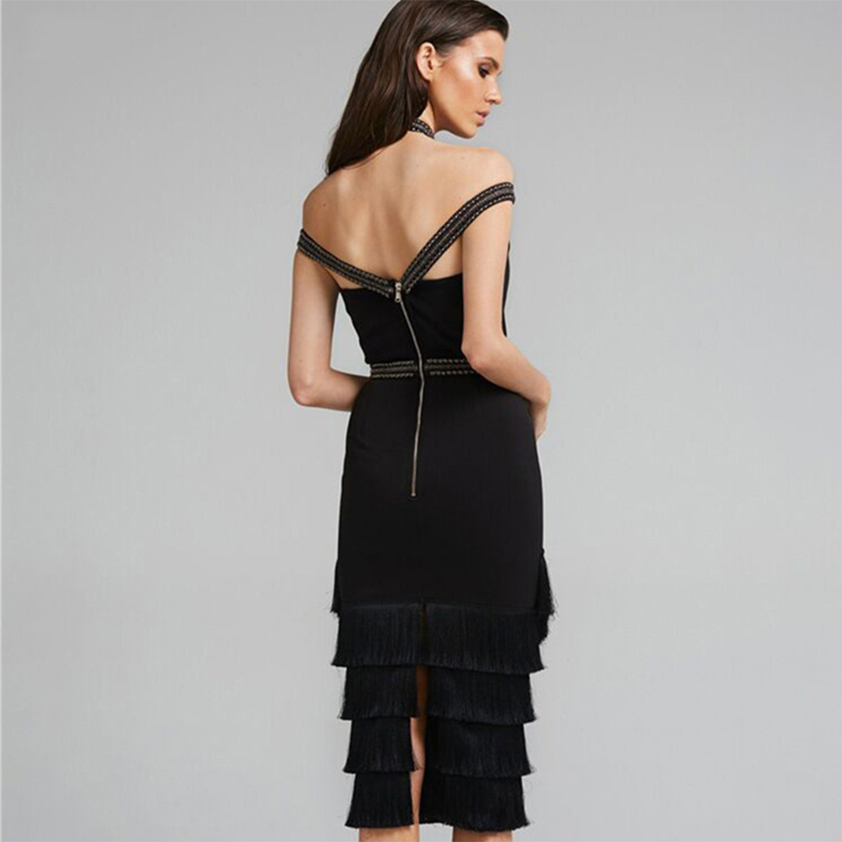 cou Partie Spaghetti Robe Moulante Printemps Sexy Gland Nouveau Bandage Soirée Celebrity Femmes Strap 2018 Noir Robes V 4wHzqYOxn