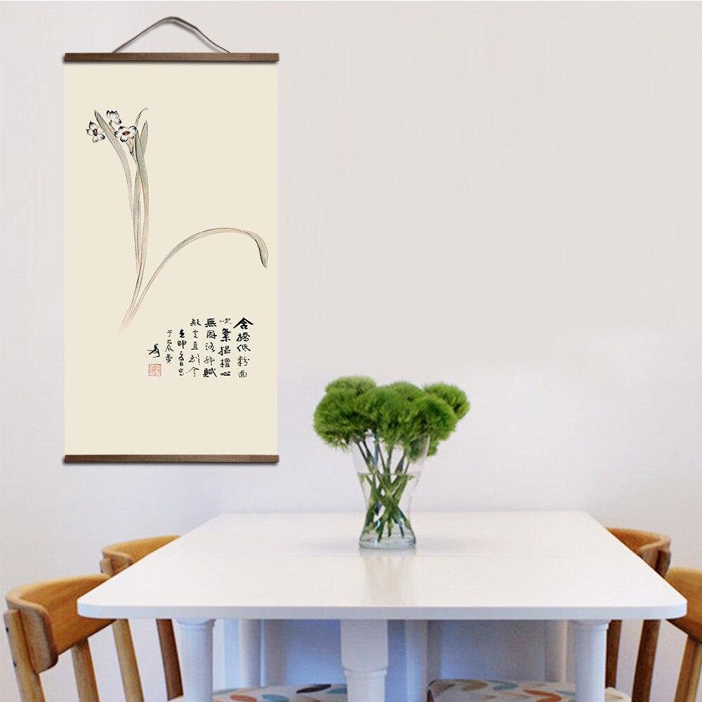Tableau plante style chinois 3 Toile de plantes vertes paysage de style chinois Peinture d corative magasin chambre coucher salon art