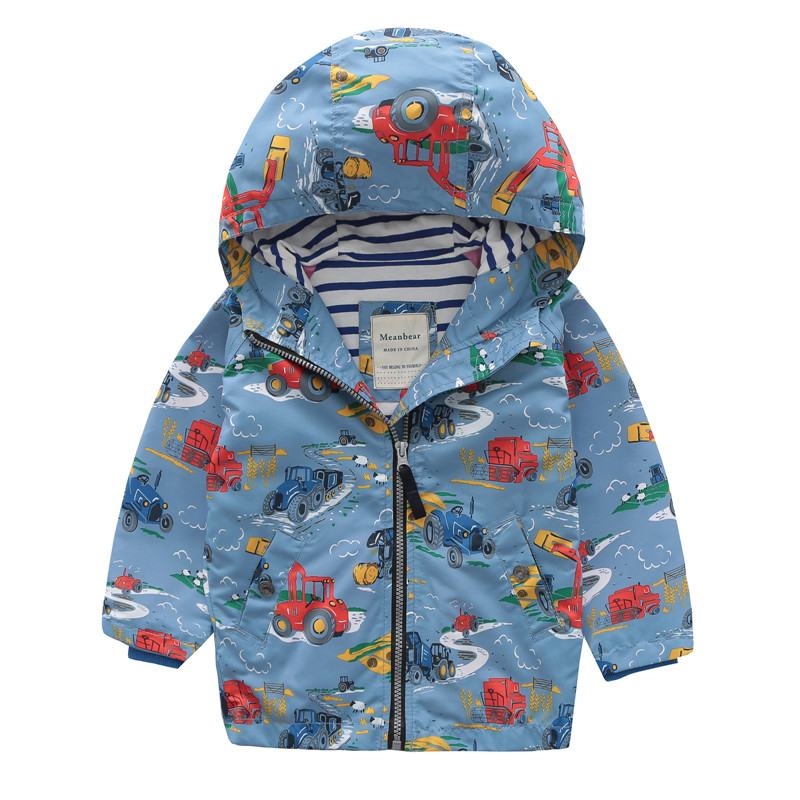 Meanbear UK Original Boys   Trench   Kids Windbreaker 100% Cotton Lining Jacket Fashion Baby Outerwear Children Coat