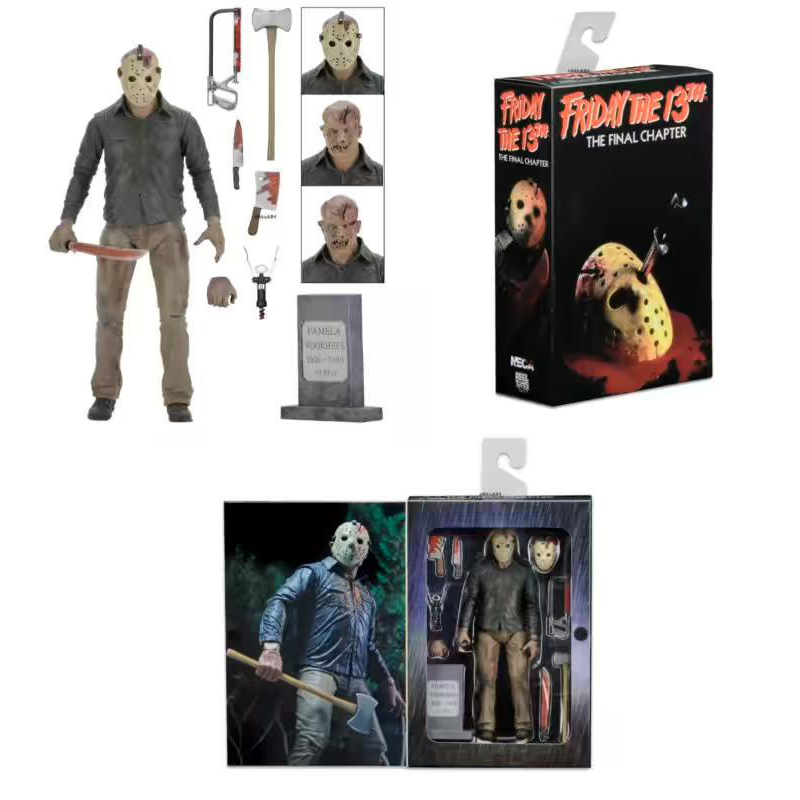 18cm Friday The 13TH The Final Chapter Freddy Vs Jason Action Figure Collection Model Toy Doll Gift neca friday the 13th the final chapter jason voorhees pvc action figure collectible model toy 7inch 18cm