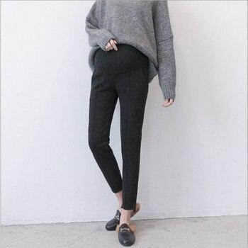2018 autumn new maternity clothing pregnancy trousers loose fashion irregular trousers pregnancy stomach lift pants футболка liana liana li039ewbxtp2