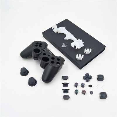 PS3 / PS3 Slim/ PS3 4000 Controller Black Replacement Repair Parts ABS Full Housing Case Shell +Full Button Accesories kits