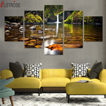 CLSTROSE No Frame 5 Pcs Landscape Painting Modern Home Decor Canvas Wall Art Modular Pictures On The For Living Room