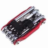 Outils de vélo multifonctions 15 en 1 ensembles clé à rayons hexagonaux outil de tournevis de Cycle de montagne Kit d'outils de réparation de vélo Multi