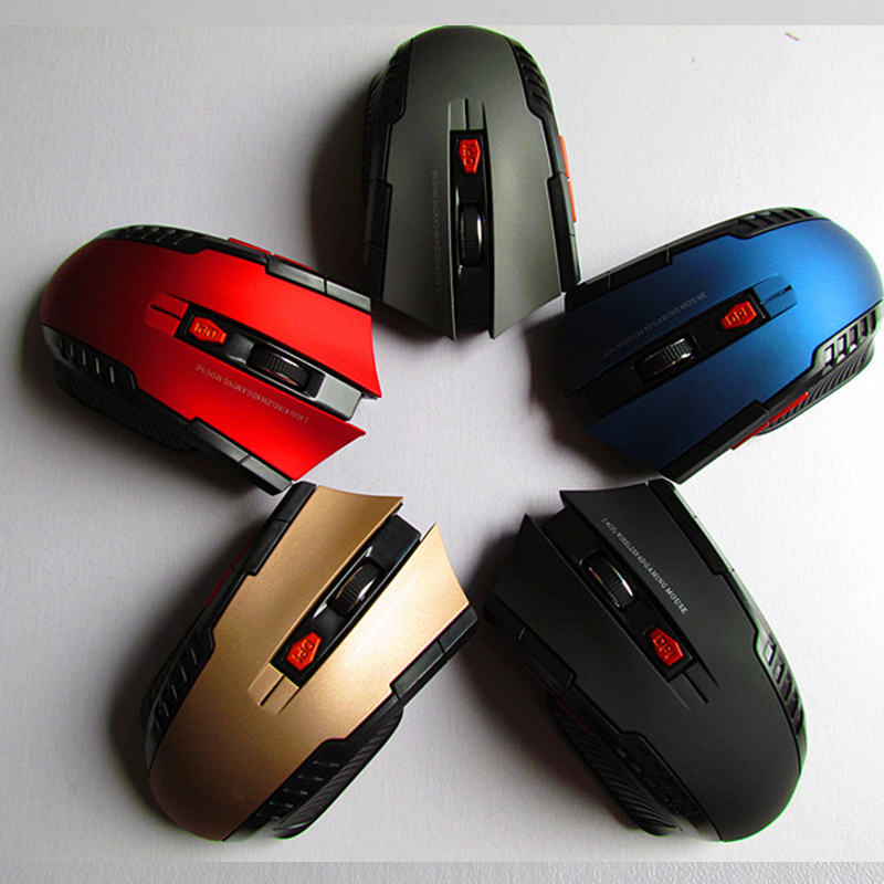 2.4Ghz Mini Portable Wireless Optical 1200DPI Adjustable Professional Gaming Game Mouse Mice For PC Laptop Desktop