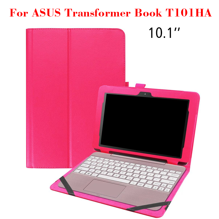 PU Leather Case For ASUS Transformer Book T101HA Flip Slim Tablet Case Cover 10.1'' Protective Stand Shell Skin Can put Keyboard планшет asus transformer book t100ha