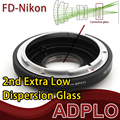 Terno adaptador Para Canon FD Lente de Vidro óptico Para Nikon D5300 D610 D7100 D5200 D600 D3200 D5100 D7000 D3100 D800 D300S Camera