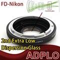 Vidrio óptico Juego adaptador Para Canon FD Lentes Para Nikon D5300 D7100 D5200 D610 D600 D800 D3200 D5100 D7000 D3100 D300S Cámara