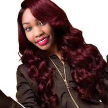 Burgundy Brazilian Hair Weave Bundles 99J Body Wave Bundles 10 24 Red Human Hair Hair Extensions