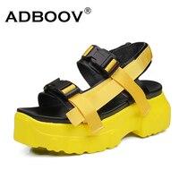 ADBOOV Chunky Sandals Women Buckle Platform Summer Shoes Woman Open Toe Casual Sandal Sandalias Mujer 2019 Sandale Plate Femme