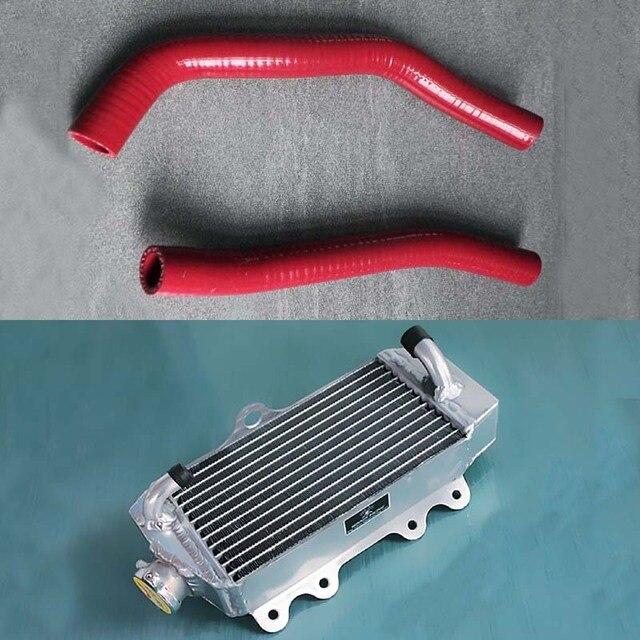 Привет-производительность радиатора хорошее качество радиатор Алюминиевый Радиатор Силикона и Шланг Для Yamaha YZ85 2002-2017