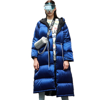 Winter Down Jacket Women Parkas High quality White goose down Coat Thick Warm Tops Large size Loose Female Lengthen Down Coats