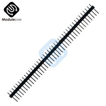 10Pcs Diy Electronic Kit Single Row 40Pin 2.54mm Round Female Pin Header 2.54 mm(China)