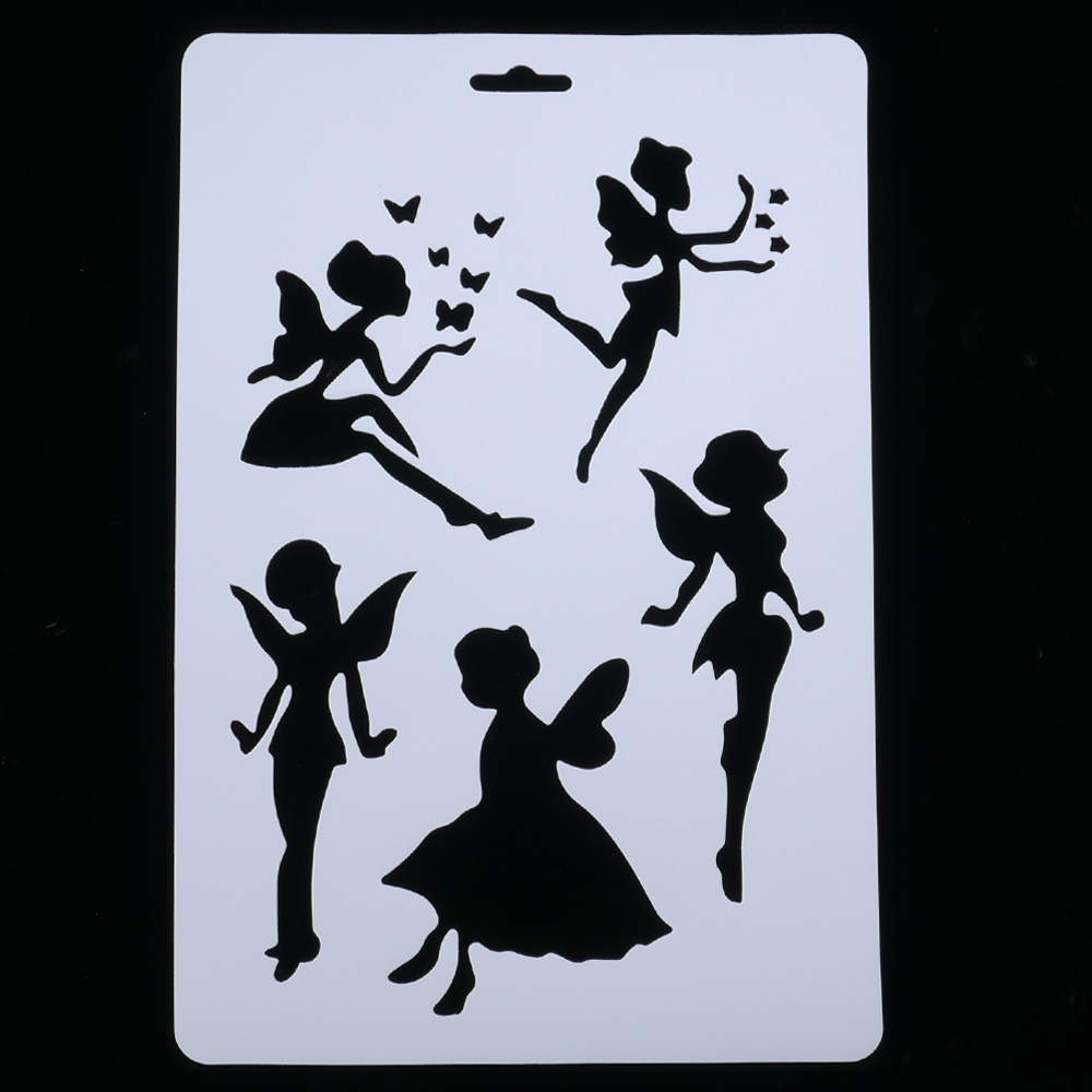 DIY Craft Angel Girl Layering Stencils For Walls Painting Scrapbooking Stamping Stamps Album Decorative Embossing Paper Cards