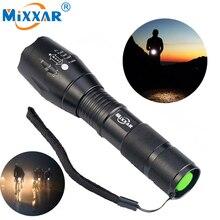 Zk90 8000LM LED Taschenlampe Leistungsstarke Wasserdichte LED Lampe Taschenlampe Lanterna 18650 Batterie Laser Stift Militär Polizei Taschenlampe