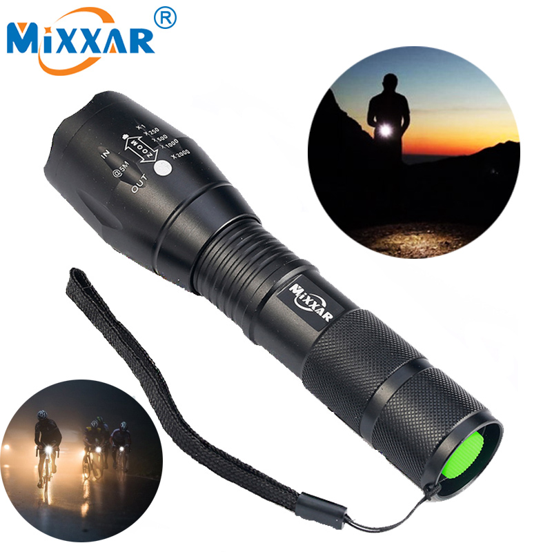 Zk90 8000LM LED Flashlight Powerful Waterproof LED Lamp Torch Lanterna 18650 Battery Laser Pen Military Police Flashlight Torch