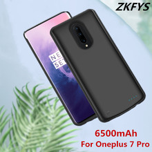 Portable Power Bank Battery Case 6500mAh External Battery Pack Backup Charger Case For Oneplus 7 Pro Back Clip Battery Case jjz portable 6500mah external battery charger power bank for cell phone more yellow white