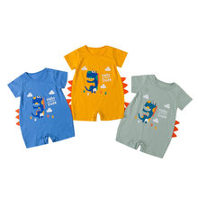 Newborn Infant Kids Clothes Cartoon Dinosaur Pattern Romper Jumpsuit Kids Clothing Set Baby boys Clothes Newborn clothes C626(China)
