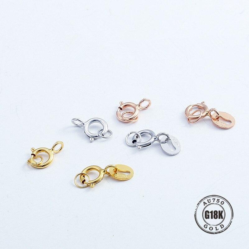 Spring Ring Bead Necklace Bracelet Clasp 14kt Gold  1 piece