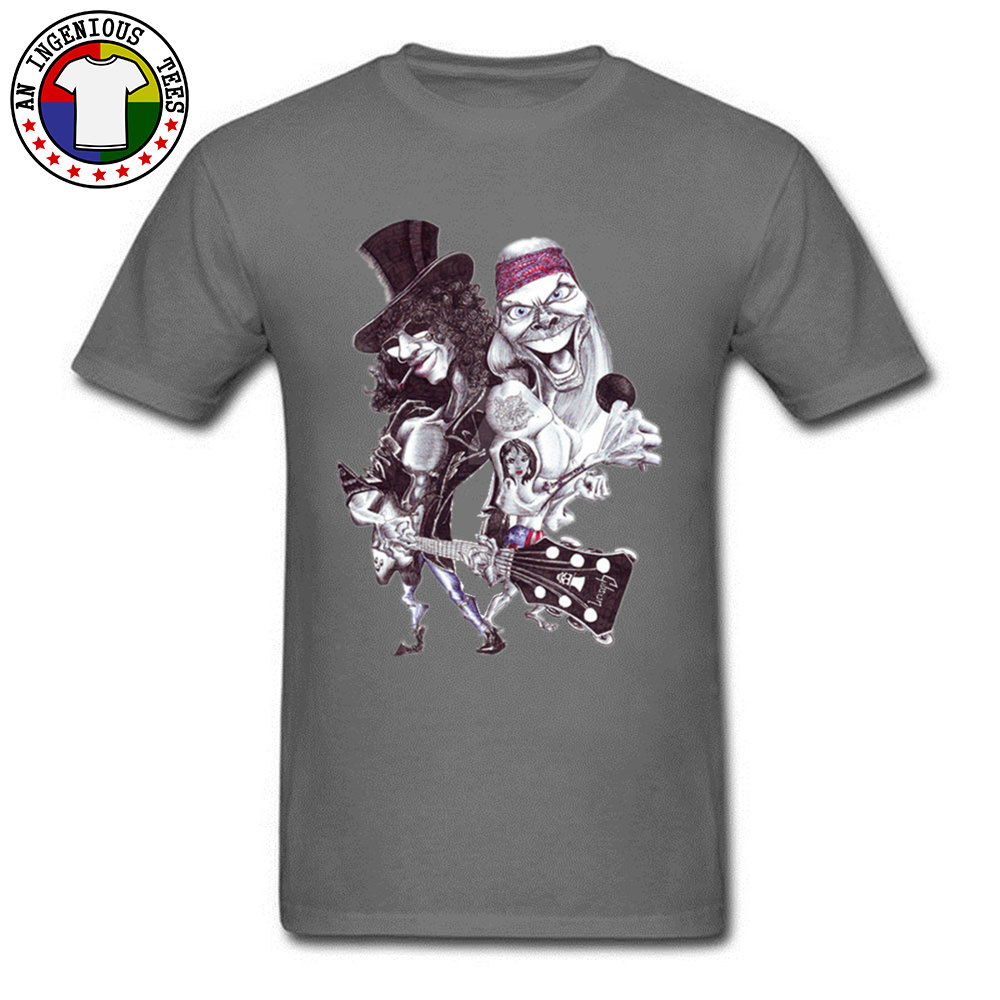 On Sale Man T Shirts O Neck Short Sleeve Pure Cotton Guns N Rose Cartoon Tops Shirts comfortable Tshirts Wholesale Guns N Rose Cartoon carbon