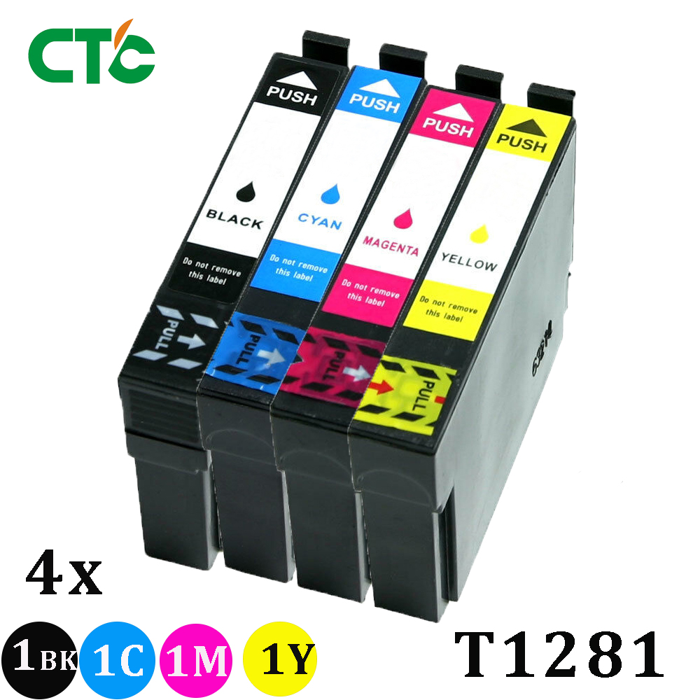 T1281 T1282 T1283 T1284 T1285 Ink with Chip Compatible for EPSON stylus S22 SX130 SX125 SX235W SX435W SX425W Printers
