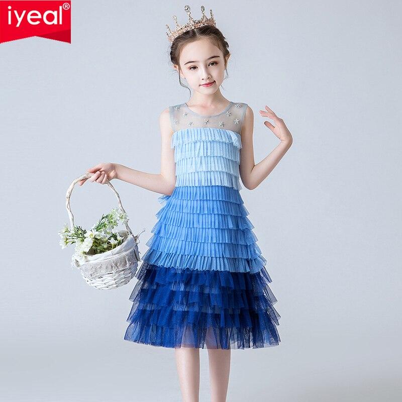 IYEAL fille Pageant robe filles élégant dentelle fête moelleux fille à plusieurs niveaux Tutu robe arc-en-ciel Costume princesse filles couches robes